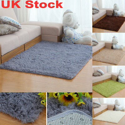 Fluffy Rugs Anti-Skid Shaggy Area Rug Home Dining Room Carpet Bedroom Floor Mat