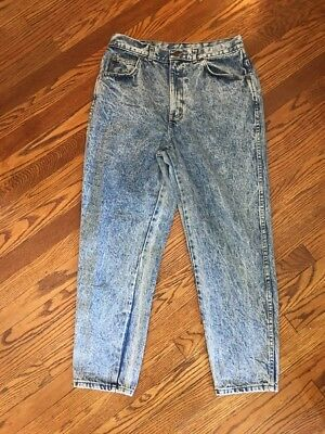 Vintage Chic Jeans Womens Size 32 High Waist Tapered Leg Acid Wash Mom Jeans