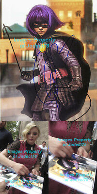 Chloe Moretz Signed Hit Girl Kick Ass Photo EXACT Proof COA