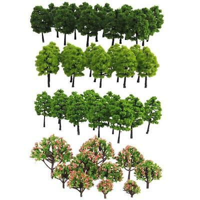 70pcs Model Trees DIY Railway Scenery Landscape Accssory  3-9cm  HO Z TT