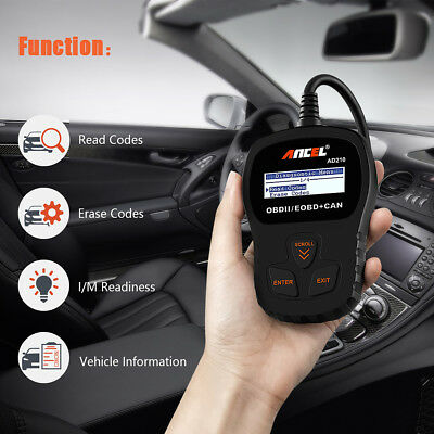 Car Vehicle Auto Scanner Fault Code Reader OBD2 EOBD OBDII Diagnostic Scan Tool
