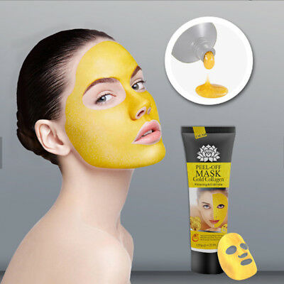 24K Gold Collagen Facial Face Mask Moisture Anti Aging Remove Wrinkle Care D8hv