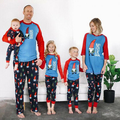 Family Matching Christmas Pajamas PJs Sets Xmas Sleepwear Nightwear US STOCK