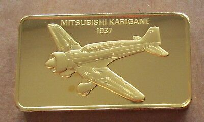 The Janes Medallic Register....mitsubishi Karigane...japan 1937...Gold On Bronze