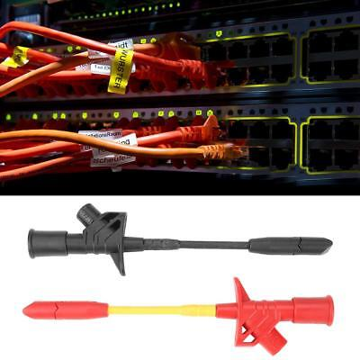 1 Pair Fully Insulated Quick Piercing Test Needle Hook Multimeter Testing Probe