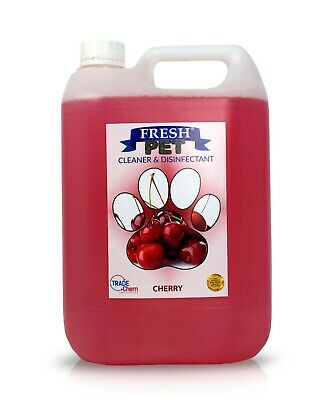 Pet Kennel Dog Disinfectant Fresh Cleaner Deodoriser Animal PREFILLED 5L CHERRY