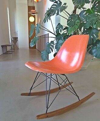 Hermann Miller Charles Ray Eames Rocker Rocking Chair Fiberglas  No Vitra Fibre
