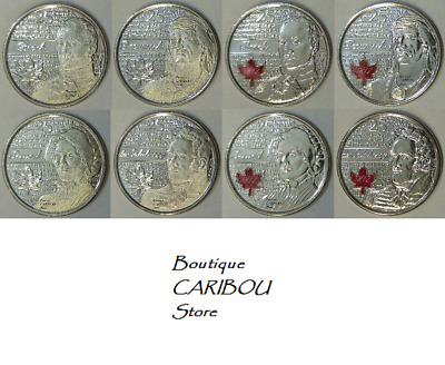 2012 - 2013 Canada Brock, Tecumseh, Secord & Salaberry Two Varieties 25 Cents BU