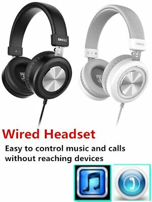 Bingle M60 Wired Headset Microphone Stereo Lightweight Stereo Bass Headset PVR