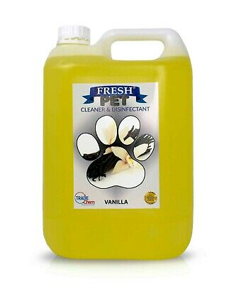 Pet Kennel Dog Disinfectant Fresh Cleaner Deodoriser Animal PREFILLED 5L VANILLA