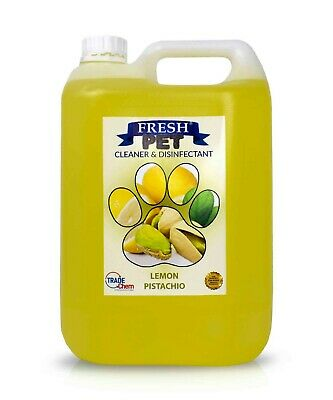 Pet Kennel Dog Disinfectant Fresh Cleaner Animal PREFILL 5L LEMON PISTACHIO