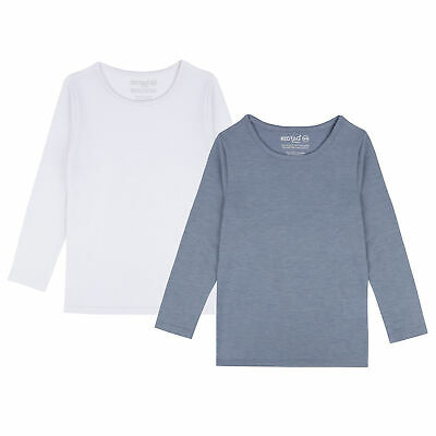 Childrens Boys Girls Thermal Long Sleeved Top Under Base Layer Warm Kids Unisex