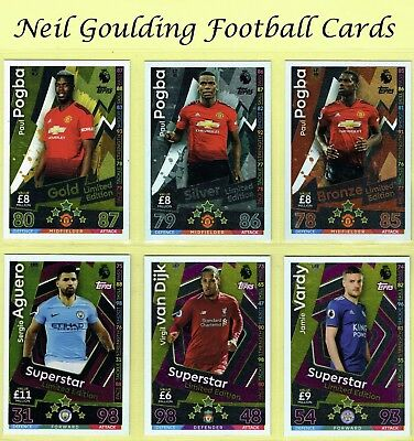 MATCH ATTAX 2018-2019 ☆☆☆☆☆ LIMITED EDITION ☆☆☆☆☆ Football Trading Cards