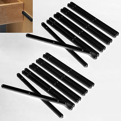 12 Pairs Plastic Draw Drawer Runners Ktchen Bedroom Cabinet Guide Grooved Runner