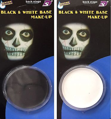 Halloween Black Or White Face Paint Base With Sponge Fancy Dress Costume Makeup