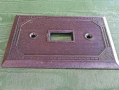 Light Switch Plate Cover Brown Single Light Vintage Wall Cat # 5941 Amalgamated