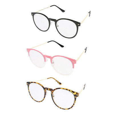 e23f50c0af3b Unisex Vintage Clear Lens Eyeglasses Frame Retro Round Glasses Daily Decor
