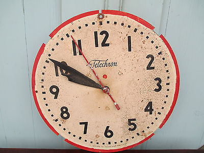 Antique Metal Clock Dial Face Telechron Parts electric battery MOTOR /  MOVEMENT