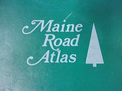 "HUGE 18"" x 24"" 1977 MAINE ROAD ATLAS Maine Dept. of Transportation State Wide"