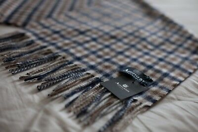 Aquascutum Scarf 100% Lambswool Classic House Check Brand New With Tags