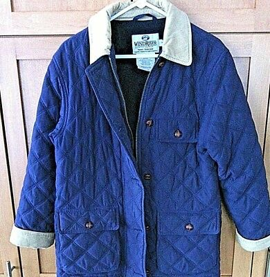 Wind River Women's Quilted Jacket Insulated Coat Lightweight Barbour Type Size S