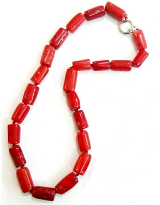 SUPERBE COLLIER EN CORAIL ROUGE NATUREL 45cm / 18inch Woman jewelry Natural Red
