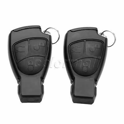 uxcell 2 Buttons 433.92Hz Uncut Key Fob Car Remote Control Keyless Black for Opel