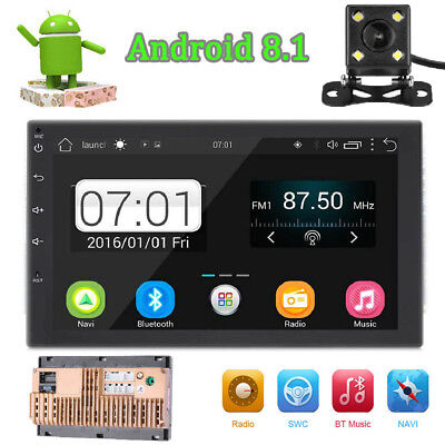 7in 2 Din Octa-core Android 8.1 Bluetooth WiFi 4G HD Stereo Car MP5 GPS FM Radio