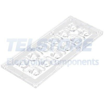 1pcs  Lentille LED rectangulaire transparent H 8,42mm