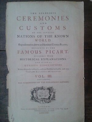Picart Ceremony 1732  lot 7 engravings México