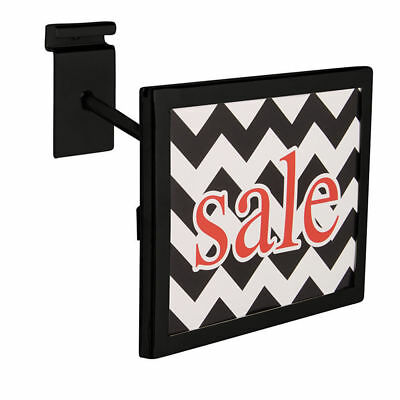 "3 Black Faceout Sign Holders Wire Grid & Grid Wall Rectangular Fits 7"" x 5 ½"""