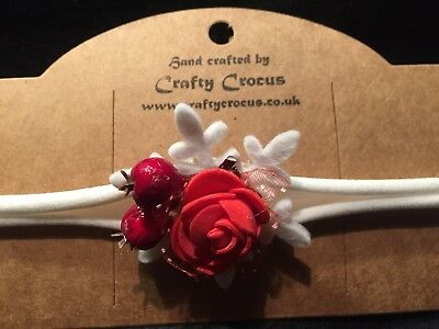 Baby - Childs Handmade Christmas Headband One Size Fits All