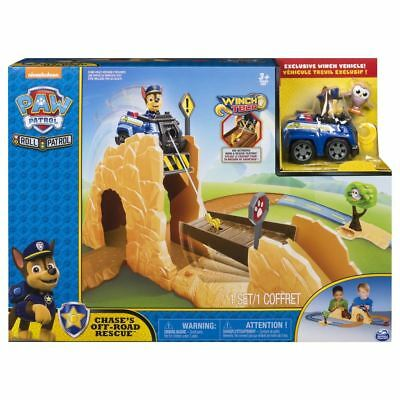 Paw Patrol Roll Patrol Chase's Off-Road Rescue Playset Winch Tech Vehicle Toy Ki