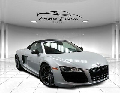 2011 R8 5.2 2dr Conv Auto quattro Spyder 8K! 2011 Audi R8, Lava Gray Pearl Effect/Black Roof with 8,183 Miles available now!