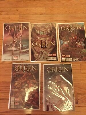 Origin II (2) 1-5 1 2 3 4 5 Wolverine Sabretooth Complete Set 2014 Marvel Comics