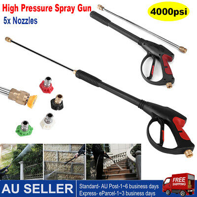 4000PSI High Pressure Washer Gun Lance Wand trigger Heavy Duty Pressure Cleaner