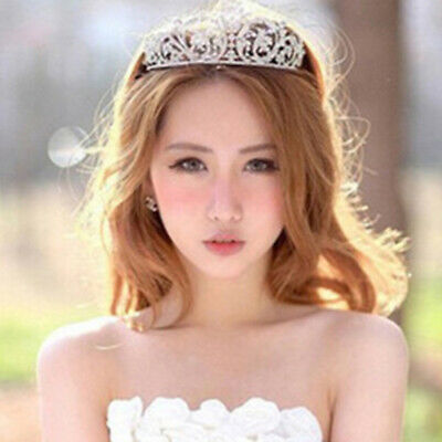 Bridal Crown Baroque Crystal Rhinestone Wedding Tiara Headband Hair Accessory