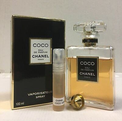 100% AUTHENTIC  Chanel COCO   Eau De Parfum 2ml FREE P&P