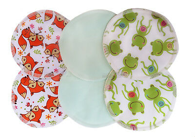 Bamboo Reusable Breast Pads Nursing Maternity Organic Washable NEW DESIGNS