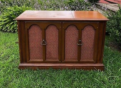 Sears Stereo console radio, phonograph and 8 track tape player