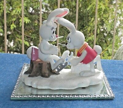 Enesco  Peter Cottontail Cartoon Figurine Could You Help Me Put My Skates On