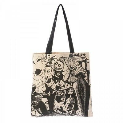 New Disney Store Japan Tote Bag Tim Burton Nightmare Before Christmas Canvas F/S