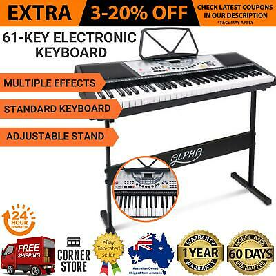 61 Full Size Keys Portable Electronic Music Piano Keyboard with Adjustable Stand