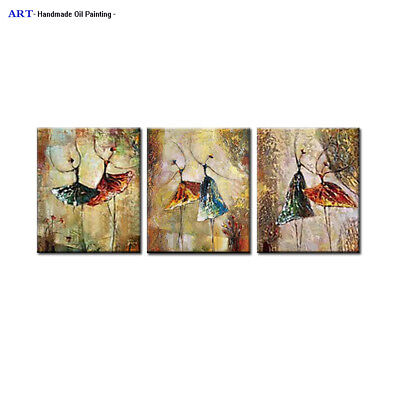 Framed Large Modern Canvas Wall Decor Music Girl Abstract Art Oil Painting H110