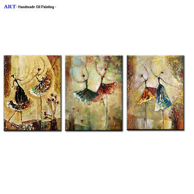 Large Modern Canvas Wall Decor Music Girl Abstract Art Oil Painting Framed H112