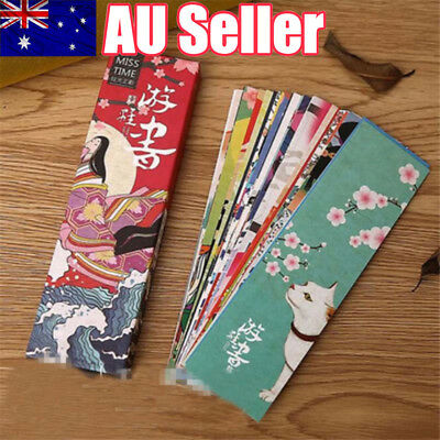 30x Paper Bookmark Vintage Japanese Style Book Marks Tag Label For Kid supplies