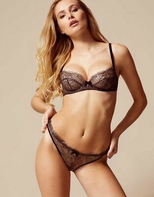 AGENT PROVOCATEUR ELLIN BRA BRIEF    SUSPENDER SET BNWT 34DD MEDIUM    AP 3    10-12 c3b93f09d