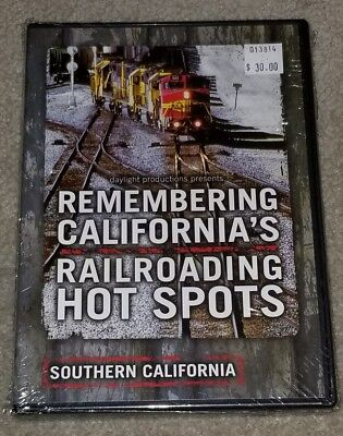 Remembering California's Railroading Hot Spots DVD Factory Sealed NEW Trains