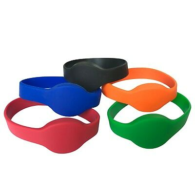 125Khz EM4100 RFID Wristband TK4100 ID Silicone Dia 60mm (pack of 100)