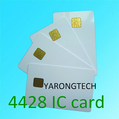 Contact IC Card SLE4428 Chip Smart White ISO7816 Inkjet printable - 10pcs